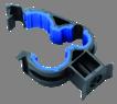 Clip plastique pour tuyauterie