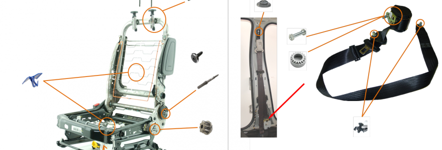 Application LISI - Siège et ceinture de securite