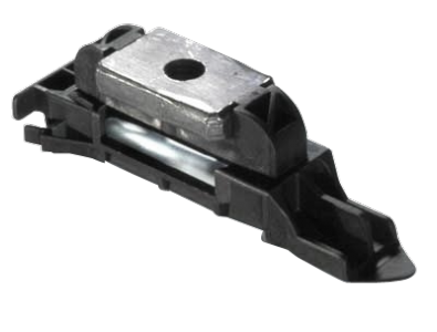 Seat fastening pre-positioning clip and nut