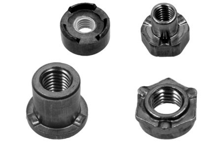 Welded nuts
