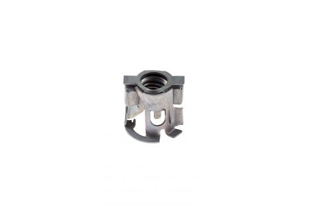 Front mounted cage nut (helical)